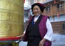 Oração dourada da roda de oração Imagem de Stock Royalty Free
