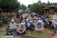 Oração Idul Fitri imagem de stock royalty free