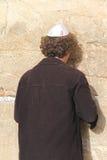 Oração na parede lamentando Fotos de Stock