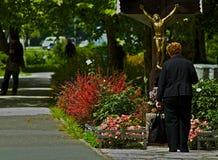 Oração no meio da vida Fotografia de Stock Royalty Free