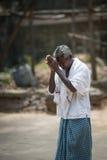 Oração no templo indiano Imagem de Stock Royalty Free