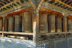 A oração roda dentro Tibet Imagens de Stock Royalty Free