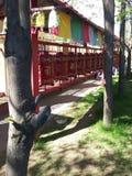 A oração roda dentro um centro budista Imagem de Stock Royalty Free