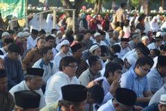 Orações de Eid al-Adha em Semarang fotografia de stock