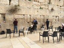 Orações no Jerusalém ocidental da parede Foto de Stock Royalty Free