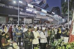 Orações para justiça, Jakarta foto de stock royalty free