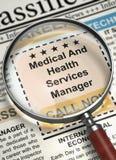 Ora assumere medico e responsabile di servizi sanitari 3d Fotografia Stock Libera da Diritti