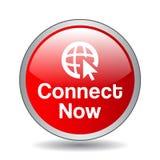 Ora colleghi il bottone royalty illustrazione gratis