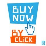 Ora compri dal clic Immagine Stock