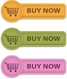 Ora compri i bottoni Immagini Stock Libere da Diritti