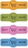 Ora compri i bottoni Fotografie Stock