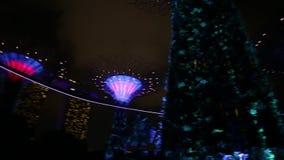 Ora del blu di Supertree video d archivio