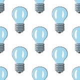 Ora della terra con la lampadina Immagini Stock Libere da Diritti