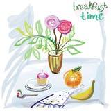 Ora di colazione Fotografia Stock