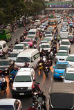 Ora di punta a Bangkok, Tailandia Immagine Stock