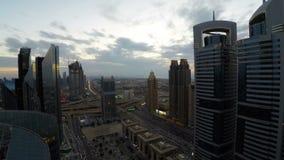 Ora di punta del Dubai stock footage