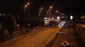 Ora di punta della città di notte archivi video