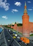 Ora di punta di Cremlino di Mosca di mattina Fotografia Stock Libera da Diritti