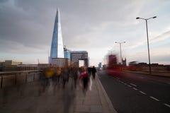 Ora di punta a Londra Fotografia Stock