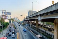 Ora di punta nel centro di Bangkok Fotografie Stock Libere da Diritti