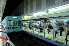 Ora di punta nel Giappone Fotografie Stock Libere da Diritti