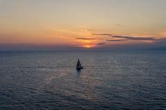 Ora di tramonto in Santos, Brasile immagine stock