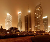 Ora la città alla notte Fotografia Stock Libera da Diritti