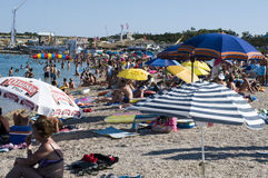 Ora legale alla costa croata Fotografia Stock