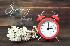 Ora legale, primavera in avanti, cambiamento di ora legale immagine stock libera da diritti