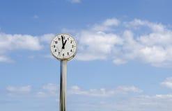 Ora, orologio pubblico Fotografia Stock Libera da Diritti