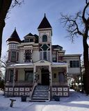 Ora Pelton House. This is a Winter picture of he Ora Pelton House located in Elgin, Illinois in Kane County.  This three-story framed house is an e ample of Royalty Free Stock Photos
