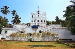 Ora Pronobis kyrka i Goa, Indien Royaltyfria Foton
