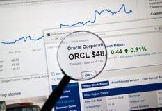 Oracle断续装置ORCL 库存照片