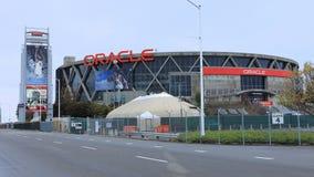 Oracle-Arena in Oakland, huis van de Strijders van de Staat van NBA Gouden stock afbeeldingen
