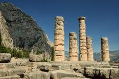 Oracle of Delphi. In Greece stock photos