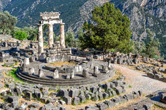 Oracle of Delphi. In Greece Stock Images