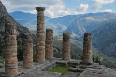 Oracle of Delphi in Greece Royalty Free Stock Images