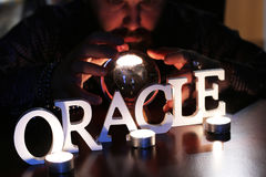 Oracle guessing future Stock Image