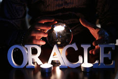 Oracle guessing future Stock Photo
