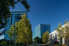 Oracle kwatery główne lokalizować w Redwood mieście Obrazy Royalty Free
