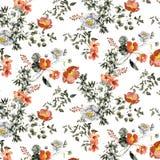 Oracle kwiatów wzór z drukiem i tapetą ilustracja wektor
