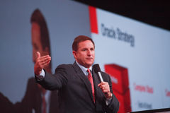 Oracle president Mark Hurd makes speech Stock Image