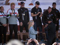 Oracle team gets medals from Mayor Ed Lee Royalty Free Stock Images