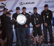 Oracle team with San Francisco Mayor Ed Lee Stock Images