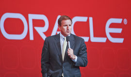 Oraclepräsident Mark Hurd Stockfotografie