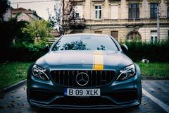 Oradea/Румыния ‎May ‎17, ‎2019: Coupe Мерседес-Benz C63 s coupé представления введенное в 2016 стоковые изображения