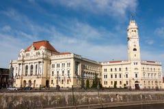 Oradea byggande av stadshuset arkivfoto