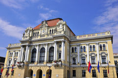 Oradea city hall Royalty Free Stock Photography