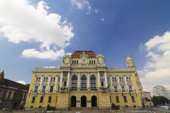 Oradea city hall. Was built in 1902-1903 on the left side of the river Crisul Repede Stock Image