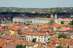 Oradea city roofs pattern Stock Photo